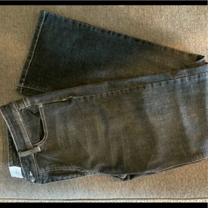 White House Black Market Blanc Faded Flare Jeans